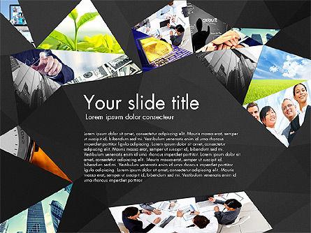 Presentation with Polygons, Slide 13, 03130, Presentation Templates — PoweredTemplate.com