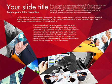 Presentation with Polygons, Slide 2, 03130, Presentation Templates — PoweredTemplate.com