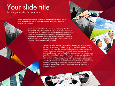 Presentation with Polygons, Slide 3, 03130, Presentation Templates — PoweredTemplate.com