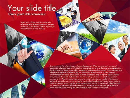 Presentation with Polygons, Slide 4, 03130, Presentation Templates — PoweredTemplate.com