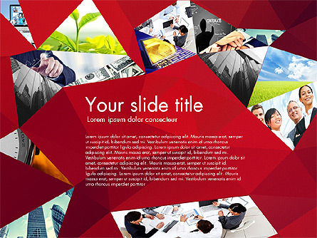 Presentation with Polygons, Slide 5, 03130, Presentation Templates — PoweredTemplate.com