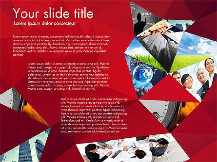 Presentation with Polygons, Slide 6, 03130, Presentation Templates — PoweredTemplate.com