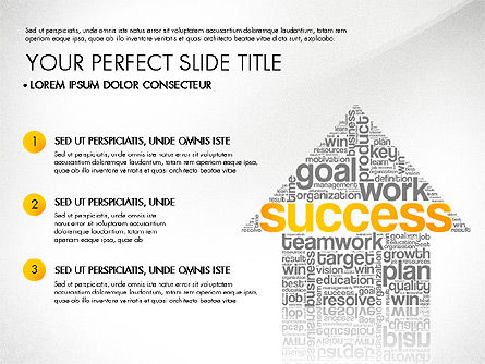 Presentation Templates: Success Plan Word Cloud Presentation Template #03133