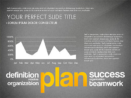 Success Plan Word Cloud Presentation Template, Slide 12, 03133, Presentation Templates — PoweredTemplate.com