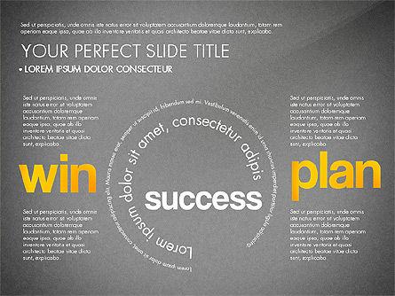 Success Plan Word Cloud Presentation Template, Slide 14, 03133, Presentation Templates — PoweredTemplate.com
