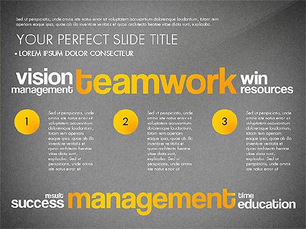 Success Plan Word Cloud Presentation Template, Slide 16, 03133, Presentation Templates — PoweredTemplate.com
