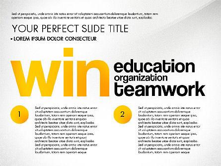 Success Plan Word Cloud Presentation Template, Slide 5, 03133, Presentation Templates — PoweredTemplate.com