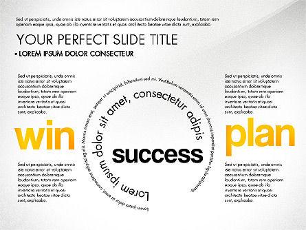 Success Plan Word Cloud Presentation Template, Slide 6, 03133, Presentation Templates — PoweredTemplate.com