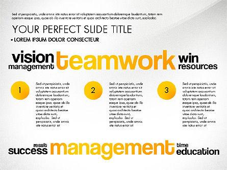 Success Plan Word Cloud Presentation Template, Slide 8, 03133, Presentation Templates — PoweredTemplate.com