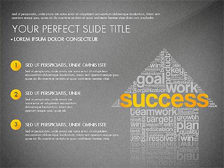Success Plan Word Cloud Presentation Template, Slide 9, 03133, Presentation Templates — PoweredTemplate.com