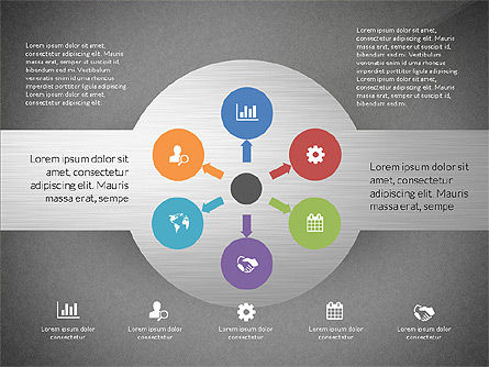 Round Diagram, Slide 11, 03134, Business Models — PoweredTemplate.com