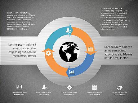 Round Diagram, Slide 14, 03134, Business Models — PoweredTemplate.com