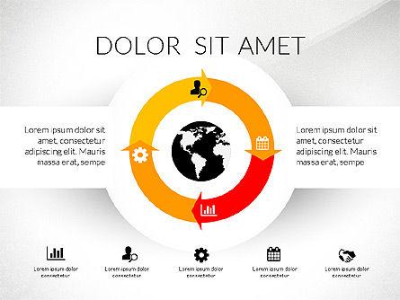 Round Diagram, Slide 6, 03134, Business Models — PoweredTemplate.com