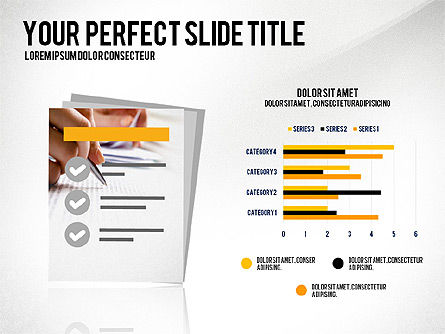 Illustrative Presentation with Data Driven Charts, Slide 4, 03135, Presentation Templates — PoweredTemplate.com