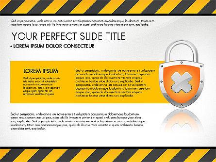 Security Presentation Template, Slide 2, 03137, Presentation Templates — PoweredTemplate.com