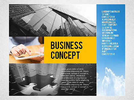 Presentation Templates: Consulting Company Profile Illustration #03140