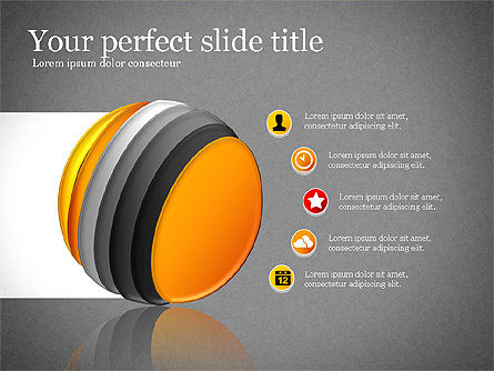 Presentation with Compound Objects, Slide 14, 03142, Shapes — PoweredTemplate.com