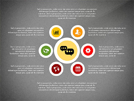 Network with Icons Toolbox, Slide 14, 03144, Process Diagrams — PoweredTemplate.com