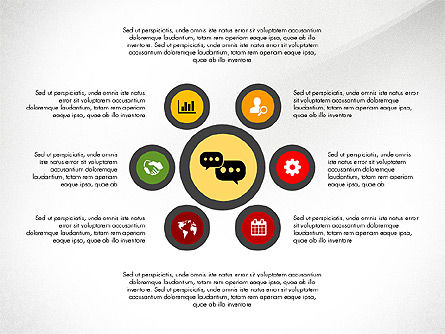 Network with Icons Toolbox, Slide 6, 03144, Process Diagrams — PoweredTemplate.com