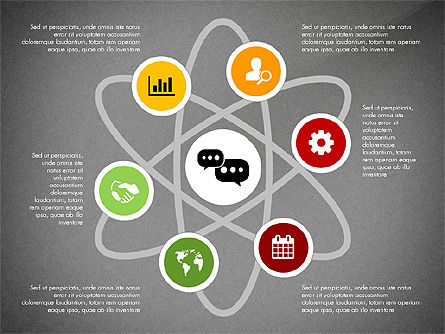 Network with Icons Toolbox, Slide 9, 03144, Process Diagrams — PoweredTemplate.com