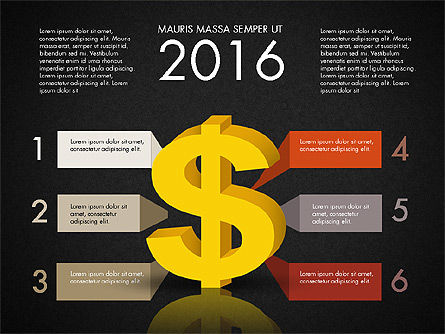 Dollar Infographics, Slide 11, 03145, Infographics — PoweredTemplate.com