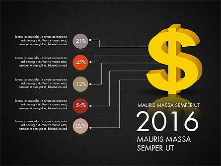 Dollar Infographics, Slide 14, 03145, Infographics — PoweredTemplate.com