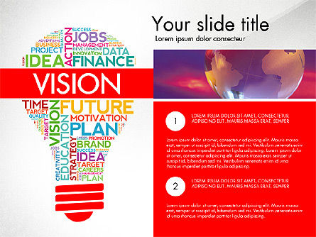 Word Cloud Data Driven Presentation Template Slide 3