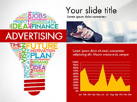 Word Cloud Data Driven Presentation Template, Slide 4, 03147, Data Driven Diagrams and Charts — PoweredTemplate.com