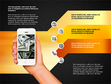 Smartphone Options Presentation Concept, Slide 14, 03148, Stage Diagrams — PoweredTemplate.com