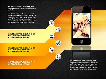 Smartphone Options Presentation Concept, Slide 15, 03148, Stage Diagrams — PoweredTemplate.com