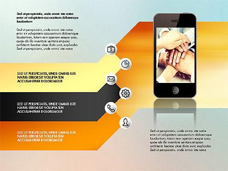 Smartphone Options Presentation Concept, Slide 7, 03148, Stage Diagrams — PoweredTemplate.com