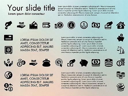 Financial Icons, Slide 7, 03151, Icons — PoweredTemplate.com
