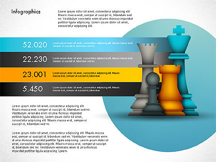 Infographics: Strategie presentatiesjabloon #03155