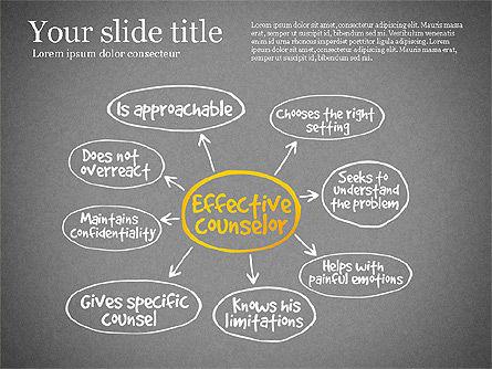 Effective Counselor Presentation Concept, Slide 10, 03156, Process Diagrams — PoweredTemplate.com