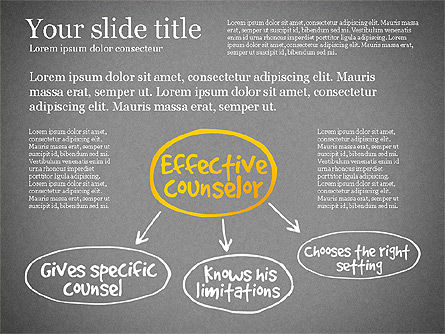 Effective Counselor Presentation Concept, Slide 15, 03156, Process Diagrams — PoweredTemplate.com