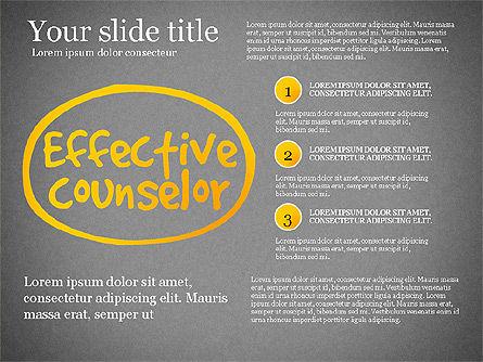 Effective Counselor Presentation Concept, Slide 9, 03156, Process Diagrams — PoweredTemplate.com