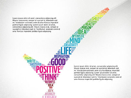 Positive Thinking Presentation Concept, 03157, Presentation Templates — PoweredTemplate.com