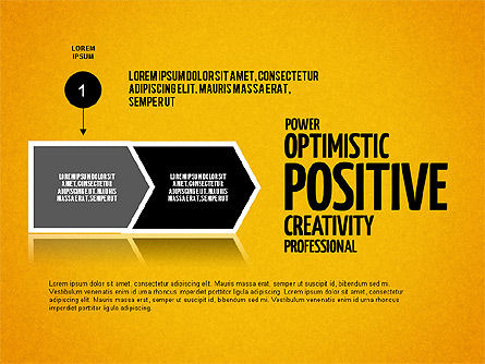 Positive Thinking Presentation Concept, Slide 10, 03157, Presentation Templates — PoweredTemplate.com