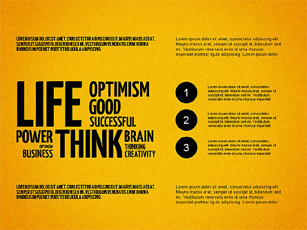 Positive Thinking Presentation Concept, Slide 15, 03157, Presentation Templates — PoweredTemplate.com