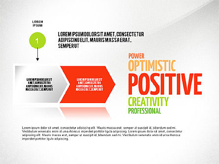 Positive Thinking Presentation Concept, Slide 2, 03157, Presentation Templates — PoweredTemplate.com