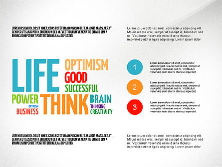 Positive Thinking Presentation Concept, Slide 7, 03157, Presentation Templates — PoweredTemplate.com