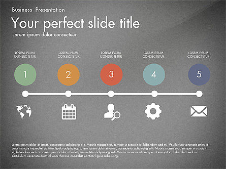 Timeline in Flat Design Toolbox, Slide 10, 03159, Timelines & Calendars — PoweredTemplate.com