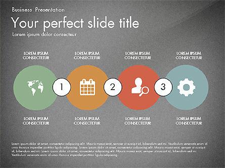 Timeline in Flat Design Toolbox, Slide 11, 03159, Timelines & Calendars — PoweredTemplate.com