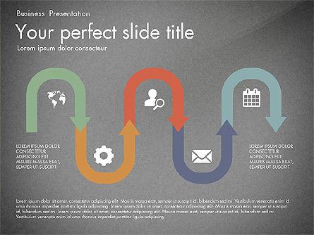 Timeline in Flat Design Toolbox, Slide 15, 03159, Timelines & Calendars — PoweredTemplate.com