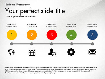 Timeline in Flat Design Toolbox Slide 2