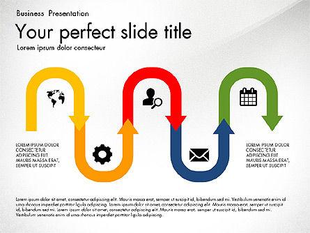 Timeline in Flat Design Toolbox, Slide 7, 03159, Timelines & Calendars — PoweredTemplate.com