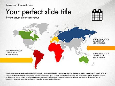 Timeline in Flat Design Toolbox, Slide 8, 03159, Timelines & Calendars — PoweredTemplate.com