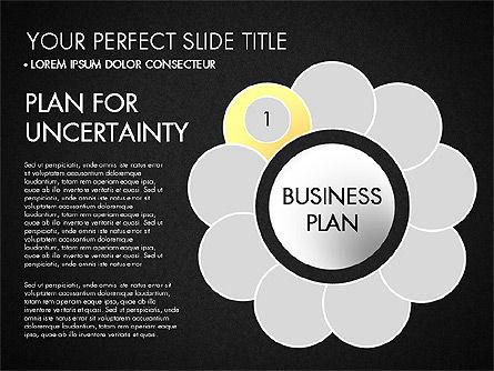 Business Plan Staged Flower Petal Diagram, Slide 12, 03160, Business Models — PoweredTemplate.com