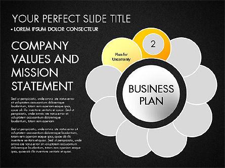 Business Plan Staged Flower Petal Diagram, Slide 13, 03160, Business Models — PoweredTemplate.com