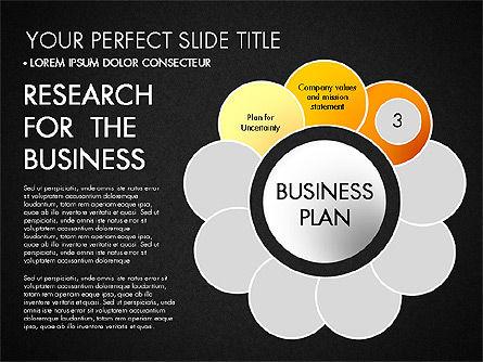 Business Plan Staged Flower Petal Diagram, Slide 14, 03160, Business Models — PoweredTemplate.com